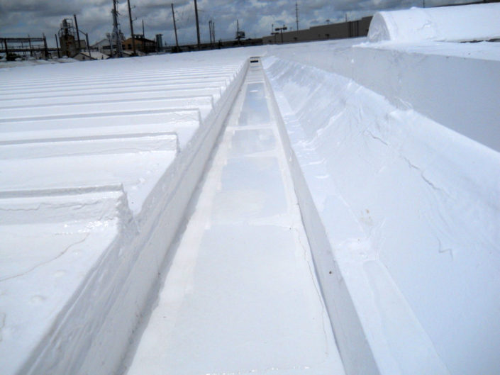 Example of finished silicone roofing work