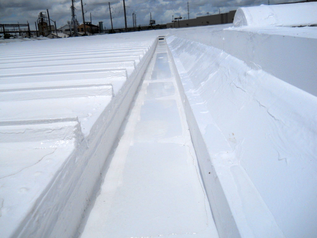 Example of finished silicone roofing work | Jaymar Roofing New Orleans, Mandeville, Covington, Slidell and Gulf Coast MS
