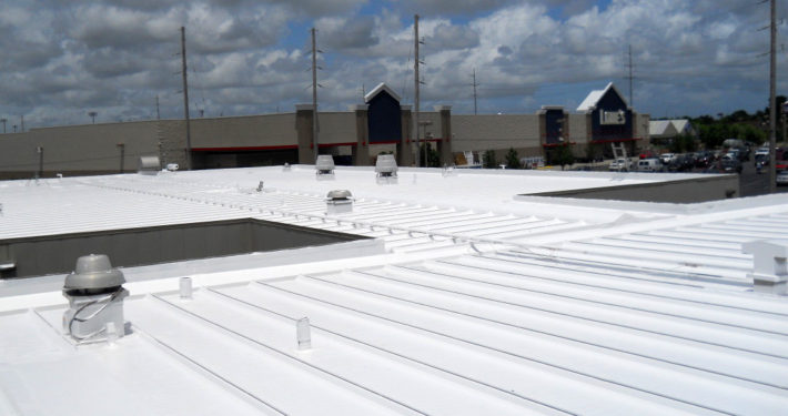 Finished silicone roofing work