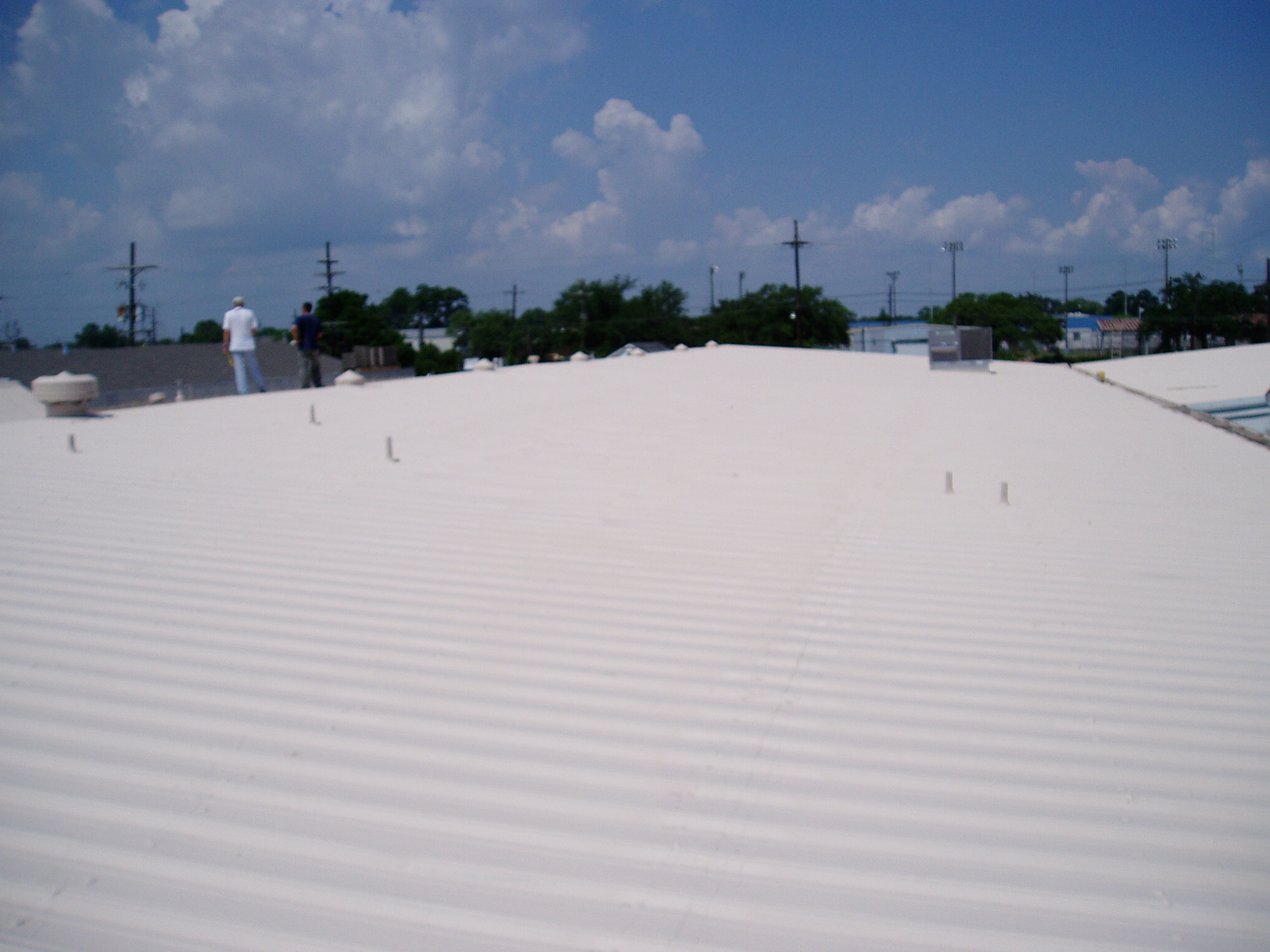 Finished Acrylic Roof Coating | Jaymar Roofing New Orleans, Mandeville, Covington, Slidell and Gulf Coast MS