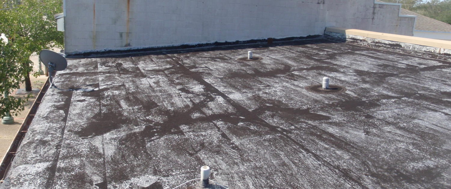 Silicone Roof Before Coating | Jaymar Roofing New Orleans, Mandeville, Covington, Slidell and Gulf Coast MS
