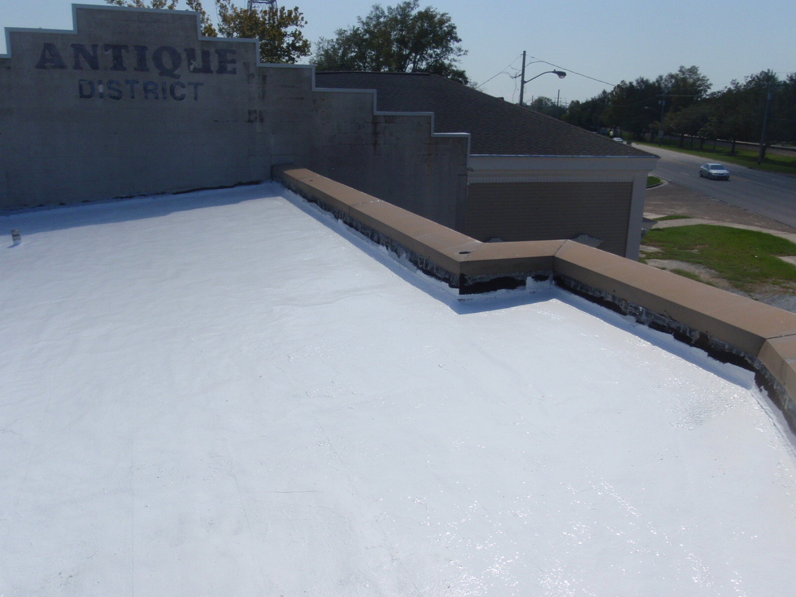 Silicone Roof After Coating | Jaymar Roofing New Orleans, Mandeville, Covington, Slidell and Gulf Coast MS